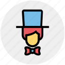 avatar, card magician, hat, magic, magician, man, show icon