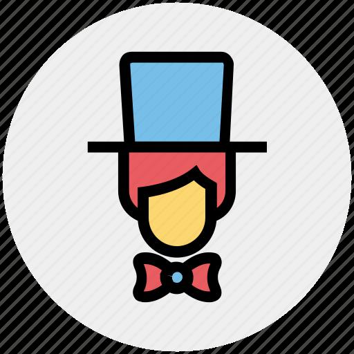 avatar, card magician, hat, magic, magician, man, show icon