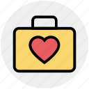 bag, favorite, hand bag, handbag with heart, heart, heart on bag, love icon