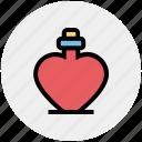 heart bottle, heart shaped, perfume, perfume bottle, perfume with heart, scent, valentine perfume icon