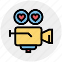 camera, heart, movie, shooting camera, valentines, video, wedding icon