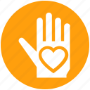 charity, compassion, giving, hand, heart, mercy, valentines icon