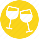 alcohol, beverage, drinks, glass, party, restaurant, wine icon