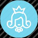 avatar, beauty, princess, princess crown, queen, wedding, woman icon