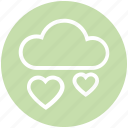 cloud, favorite, health, heart, online dating, online love, romance icon