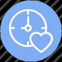 bookmark, clock, heart, love, timepiece, timer, watch