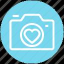 device, heart, photo, photo camera, photo shoot, photography, romantic icon