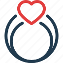 day, heart, love, ring, valentine, valentines icon