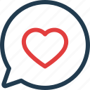chat, day, heart, love, valentine, valentines icon