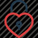 day, heart, lock, love, padlock, valentine, valentines icon