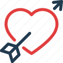 arrow, day, heart, love, valentine, valentines icon