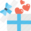 gift hamper, love, loving, valentine, valentine gift icon