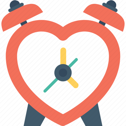 clock, heart, loving, timepiece, timer icon