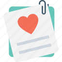 correspondence, heart, love, love letter, paper icon