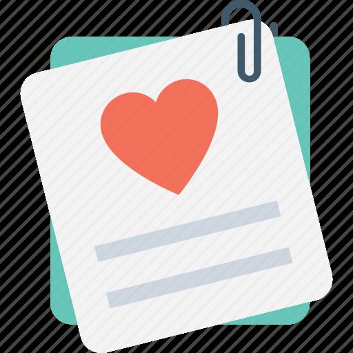 correspondence, heart, love, love letter, paper icon