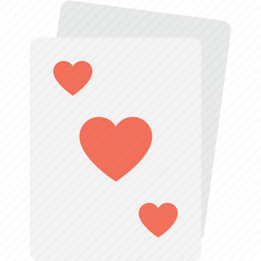 casino, gambling, heart card, poker, suit card icon