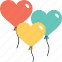 balloons, birthday, decorations, heart balloon, party