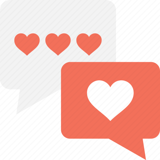 chat bubble, conversation, love chat, message, romantic chat icon