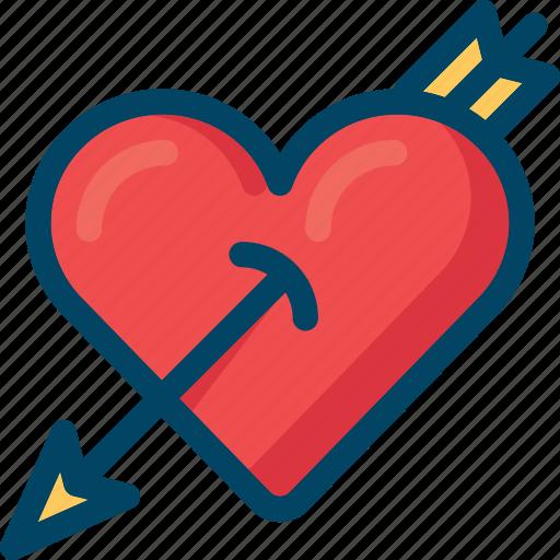 amor, arrow, cupid, heart, love icon