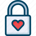 heart, lock, love, valentine, wedding icon