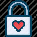 heart, lock, love, valentine, wedding