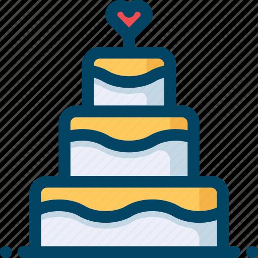 cake, food, heart, love, sweet, wedding icon