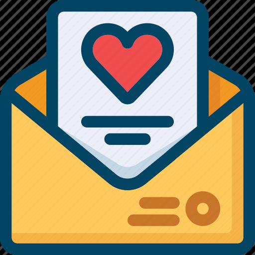 heart, invitation, letter, meddage, valentine, wedding icon