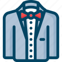 bow, clothing, groom, man, suit, wedding icon