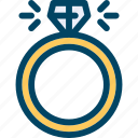 diamond, engage, ring, wedding icon