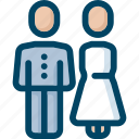 bride, couple, groom, man, wedding, woman icon