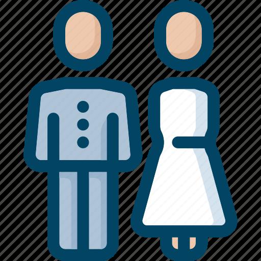 bride, couple, groom, man, wedding, woman icon