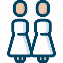 bride, couple, gay, lesbian, love, marriage, wedding icon