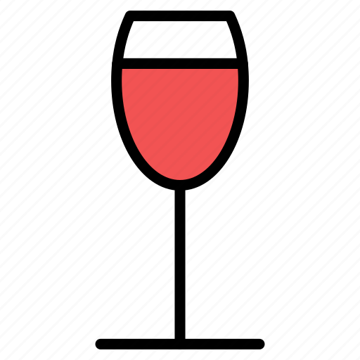 alcohol, drink, glass, red, wine, wineglass icon