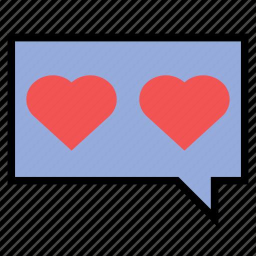 app, chat, heart, love, smartphone, valentine icon