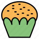 baker, bakery, cupcake, dessert, food icon