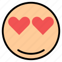 emoji, emoticon, face, happy, love, smile icon