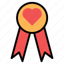 award, certicicate, letter, love, rolled, valentines icon