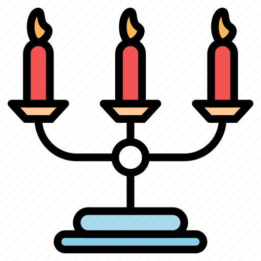 candle, dinner, fire, flsme, light icon