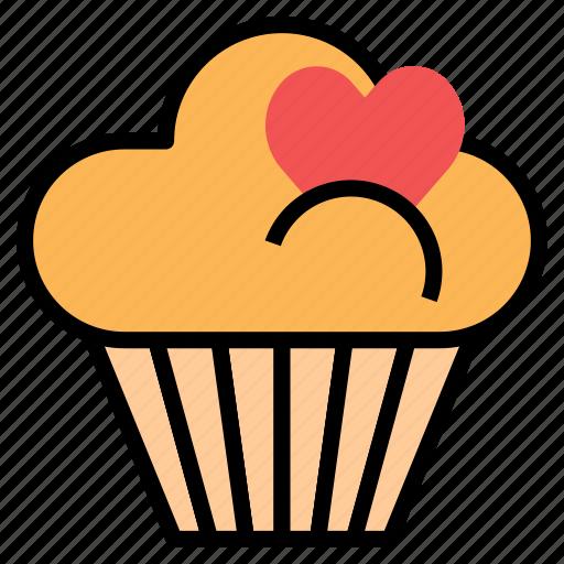bakery, cake, cupcake, dessert, item icon
