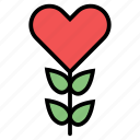 candy, ecology, flower, gardening, heart, plant icon