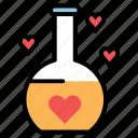 bottle, cent, drink, heart, liqued, love, romance icon