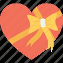 heart, gift, gift box, present, present box