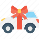car gift, gift, gift car, new car, vehicle icon