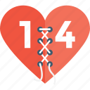 14 february, breakup, broken heart, divorce, heartbreak icon