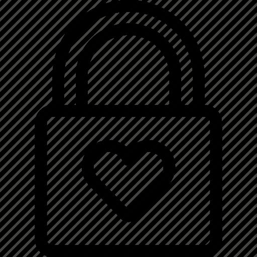 couple, heart, lock, love, romantoc, wedding icon