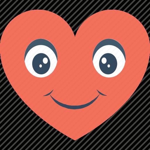 emoji, emoticon, happy smiley, in love smiley, smiley icon