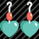 earrings, fashion accessory, girlish, heart shape, jewelry icon
