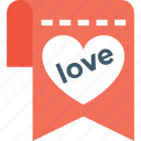 ardour, love, love sign, message, passion icon