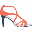 heel sandals, heel shoes, high heels, peep toe, womens heels icon