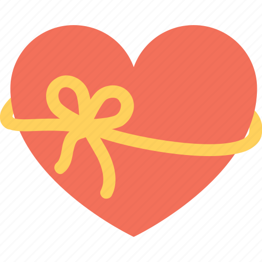 heart, heart gift, love, valentine gift, wrapped heart icon
